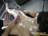Straight guys handjob from masseur