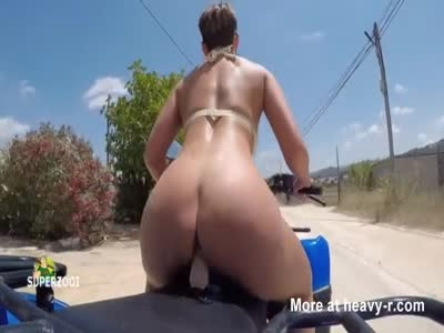 Public Dildo Ride On Quad