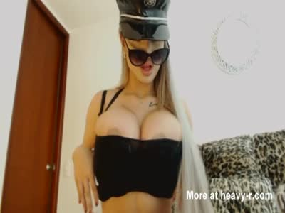 Latina Officer With Huge Tits