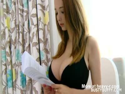 Big Tits Reads And Masturbates