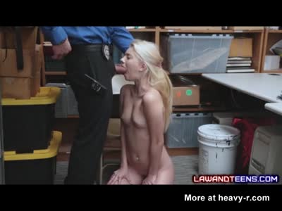 Teen Scared of Police Involvement Sucks Cock!