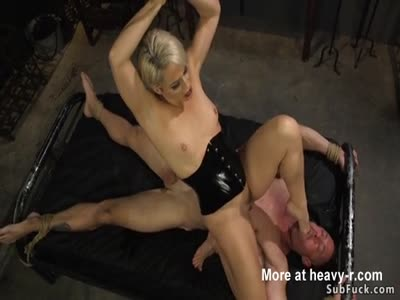 Experienced Mistress Dominates Guy