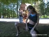 Young Girl Flashes Pussy And Tits In Public
