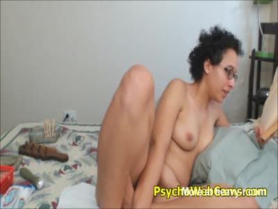 Webcam Nerd with Hairy Pussy Reading Odyssey