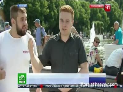 Guy Brutally Breaks Up Live News