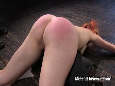 Strapped Redhead Tortured