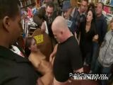 Ebony Babe Humiliated In Public