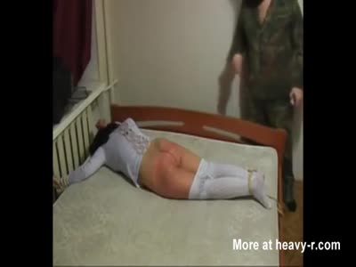 Captured Girl Receives Spanking Punishment