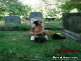 Girl Gets Naked In Cemetery