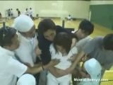 Japano raped in a gymnasium