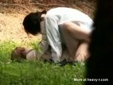 Asian Couple Having Sex Outdoor