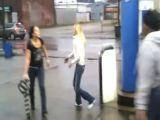 Gas station bitch fight