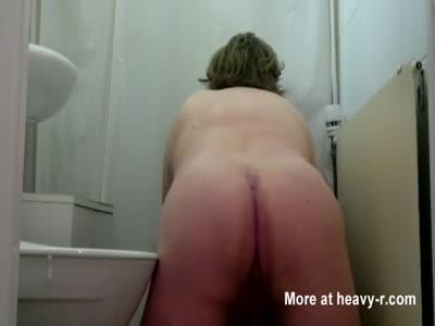 Boy poops in the bathroom