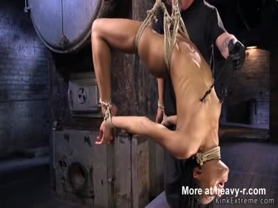 Hogtied In BDSM Dungeon