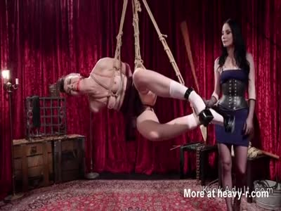 Suspended Slave Caned And Toyed