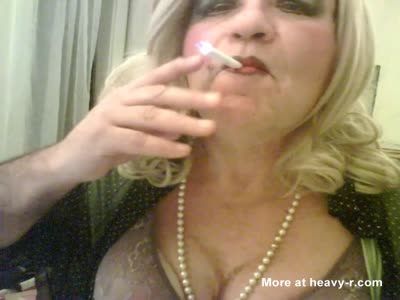sexy smoking crossdresser