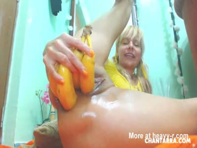 Extreme Anal Fruits And Vegetables Insertions