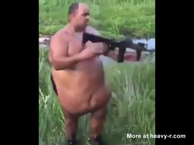 Fat Fucker Has A Built In Holster
