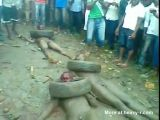 Nigerians beaten and burned alive