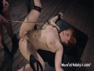 Anal Fucking Chained Redhead