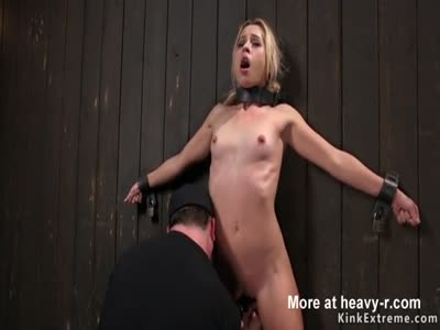 Blonde Pussy Fingered In BDSM