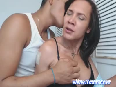 Horny Guy Ravages Tranny's Tits and Ass