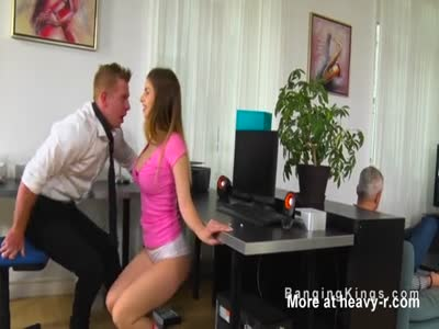 IT Guy Fucking Babe In Office