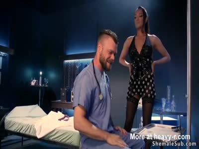 Scientist made tranny and gets anal fucked