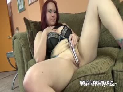 Fucking Twat With Silver Dildo