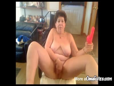 Grandma With Dildo