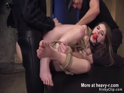 Master Fucks Tied Teen