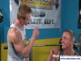 Straight pornstar jock sucking muscle cock