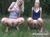 German Teens Pissing Outdoor