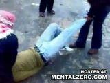 Drugdealer gets legs brutally broken