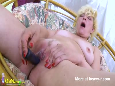 Blonde Mature Solo Masturbation