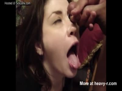 Little Teen Getting Her Face Painted With Cum