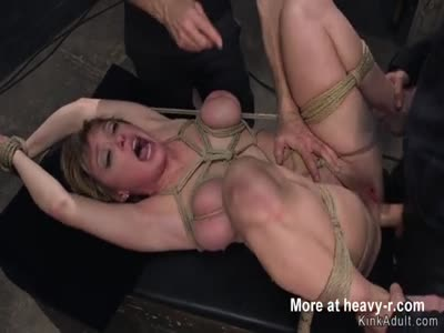 Anal Gangbang For Tied Up Mature