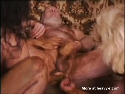 Vintage Scat Threesome With Asian