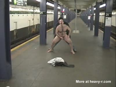 DAVID CHERIANO BAREBACK FUCKED BY STRANGER NYC SUBWAY!