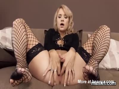 Blonde Girl Opening Up Her Pink Snatch