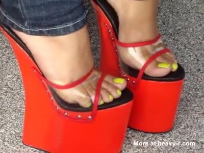 Walking On Super High Heels