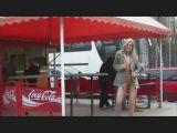 Cute blondie flashing in public