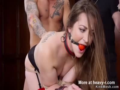 Photographer banged in bdsm threesome
