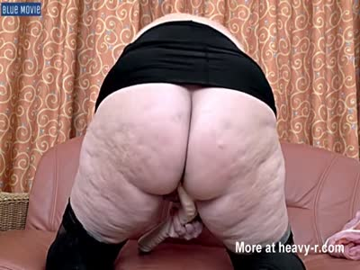 Old BBW Playing With Big Dildo