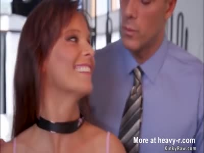 Teen fucks with dad and busty stepmom