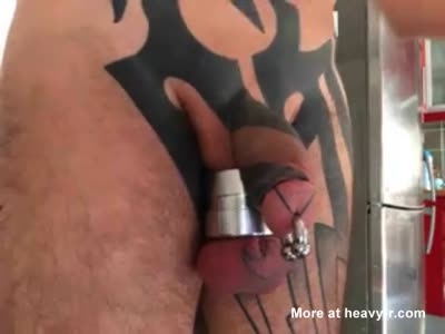 7 needles in my cock shaft