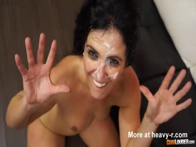 Spanish MILF Takes Facial