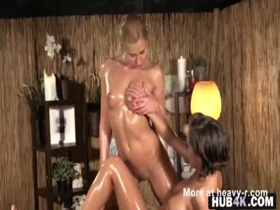 Sensual Oiled Lesbian Massage