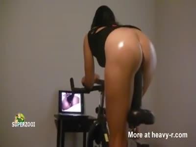 Dildo Bike Workout