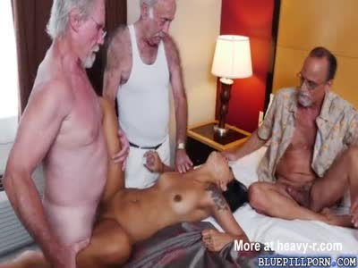 Latina Teen Used By 3 Grandpa's